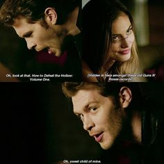"""#TheOriginals 4x07 """"High Water and a Devil's Daughter"""" - """"You hosting a yard sale? I just figured while we're stuck here I may as well workout which stuff to keep and which to donate """" - #KlausMikaelson #HayleyMarshall"""