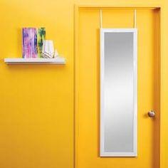 Room Essentials™ Over the Door Mirror - White : Target