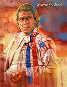 Steve Mcqueen, Speed Art, Mc Queen, Iconic Movies, Film Posters, Hollywood Stars, Painting & Drawing, Movie Stars, Illustrators