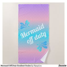 Shop Mermaid Off Duty Gradient Scales Beach Towel created by DipsyLou.