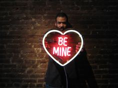 BE MINE Neon Sign, Ready-made by MarcusConradPoston on Etsy https://www.etsy.com/listing/218373253/be-mine-neon-sign-ready-made