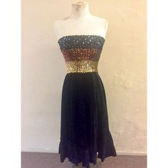 Sequined Velvet Dress ($124) ❤ liked on Polyvore featuring dresses, striped dress, sequin party dresses, bohemian dresses, party dresses and boho dresses