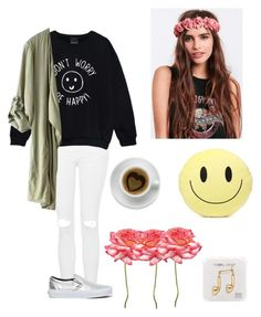 """Happy Day :) Follow for a Follow!"" by anadoribeljimenez ❤ liked on Polyvore featuring Topshop, Vans, Happy Plugs, Forever 21 and followforafollow"