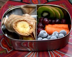 20. Peanut Butter and Banana Roll-Ups #healthy #bentobox #lunch http://greatist.com/health/healthy-bento-box-ideas