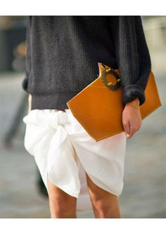 Topshop skirt and Factory bag.