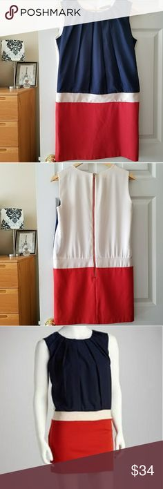 """stitch fix thml red, white, blue colorblock dress Measurements lying flat:  Bust: 18.5"""" Length: 32.5""""  -Smoke-free home  -Reasonable offers welcome, but prices are firm on items under $10.  -No trades, please.  -All measurements are approximate.  💕💕💕Thank you for shopping my closet, it means a lot to me!💕💕💕 Stitch Fix Dresses Mini"""