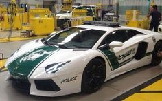 Dubai police have adopted a Lamborghini police car Aventura Tadoru one of 40 million yen