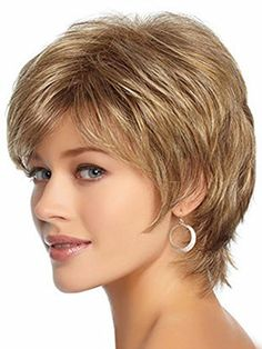 Womens Wig Deep Brown Kanekalon Wavy Curly Natural Short Wig For Women Girl * Read more reviews of the product by visiting the link on the image.(This is an Amazon affiliate link and I receive a commission for the sales)