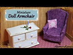 Miniature Doll Armchair - Polymer Clay/Fabric Tutorial - YouTube