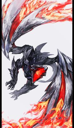 """Dragon-Mythical Being-Scales-Winged Reptile. Find more on the """"Creativity+Fantasy"""" board. Monster Hunter Art, Monster Hunter Series, Monster Art, Creature Concept Art, Creature Design, Kagami Kuroko, Fantasy Beasts, Cool Monsters, Dragon Artwork"""