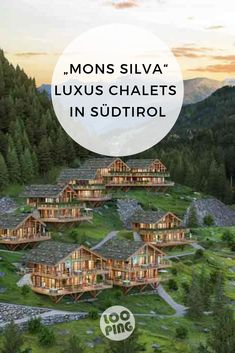 """Stylish chalets in the middle of the forest - What we like about the """"Mons Silva"""" luxury chalets in South Tyrol: The wonderful location in the mi - World Most Beautiful Place, Beautiful Places To Travel, Romantic Travel, Acevedo, Best Ski Resorts, Ski Vacation, South Tyrol, Road Trip Hacks, Outdoor Camping"""