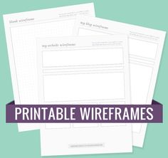 Printable Wireframes for Your Blog or Website