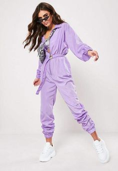 Up your jumpsuit game with hundreds of styles and finishes for any occasion. Explore our women's jumpsuit collection now for a super effortless look. Sporty Outfits, Urban Outfits, Cute Outfits, Fashion Outfits, Neon Rave Outfits, Purple Pants Outfit, Business Casual Outfits, Teenager Outfits, Trends