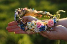 """Z lúky"" / magaela Headband Hairstyles, Headbands, Hair Accessories, Flowers, Wedding, Tools, Facebook, Jewelry, Valentines Day Weddings"
