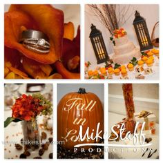 Ideas for your fall #wedding. #WeddingPlanning #MikeStaffProductions
