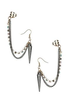 Martini Double Spike Ear Cuff
