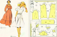 Vintage And Retro Fashion! Dress Sewing Patterns, Vintage Sewing Patterns, Clothing Patterns, Sewing Clothes, Diy Clothes, Diy Fashion, Retro Fashion, Moda Retro, Couture Sewing
