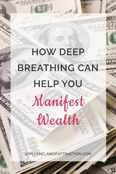 Learn how to use deep breathing to manifest wealth. Simple techniques help you to use your breath to draw money to you with the Law of Attraction. Focus On Yourself, Finding Yourself, Mind Relaxation, Law Of Attraction Quotes, To Manifest, Life Purpose, Getting Organized, Breakup, Wealth