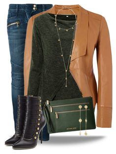 These boots though... by curvygirlamy on Polyvore featuring polyvore, fashion, style, Richards Radcliffe, Balmain, MICHAEL Michael Kors, Arme De L'Amour and clothing