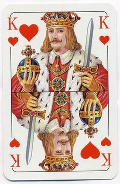 Club Skat Economy by Piatnik colorfull deck – King of hearts Printable Playing Cards, Playing Cards Art, Playing Card Games, Vintage Playing Cards, Vintage Cards, King Of Hearts Card, Graffiti, Joker Card, Diy Art Projects