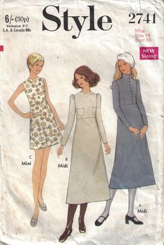 Set of Three Robes Seventies Size 16 to 18 Women Supply Dressing Gown Craft McCalls Sewing Pattern 1970s Fashion 3031
