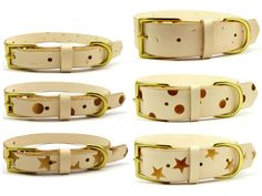 Stamped Leather Dog Collars
