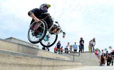 Wheelchair skateboarding!