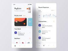 Personal Account Manager App Ui by Luova Studio on Dribbble Web Design, App Ui Design, Mobile App Design, User Interface Design, Flat Design, Design Thinking, Motion Design, Event App, Mobile Application Design