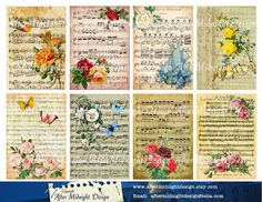 TAGS 67 Vintage Shabby chic TAgs Cards by aftermidnightdesign
