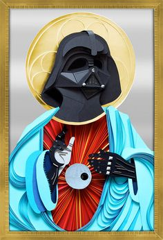 Paper Vader Jesus (complete with a Death Star heart): Pray to the Dark Side of the Force!