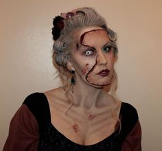 "Zombie victim - I love ""gory"" makeup alongside ""beauty"" makeup!"