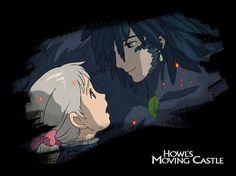 Howl and Sophie ☆ Howl's Moving Castle ( ハウルの動く城 )☆ Hayao Miyazaki ( 宮﨑 駿 ) Anime Nerd, Manga Anime, Howl And Sophie, Castle Pictures, Studio Ghibli Movies, Howls Moving Castle, My Neighbor Totoro, Hayao Miyazaki, Animation Film