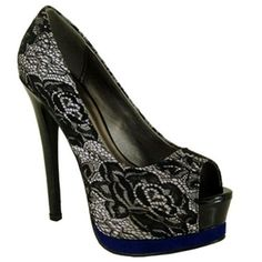 Women's Keyhold Open Peep Toe Platform High Heel Stiletto Pumps Shoes