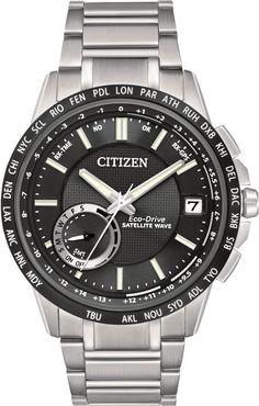 Citizen Eco-Drive Men's Satellite Wave World Time GPS Watch