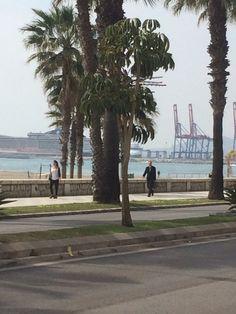 View of Malaga port,Malaga,Spain