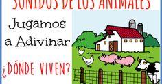 ¿DÓNDE VIVEN LOS ANIMALES? Video para trabajar discriminación auditiva, vocabulario y comprensión de los animales. Eugenia Romero
