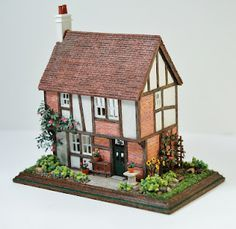 Midsomer Cottage dollhouse, front/side