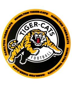 The CFL Hamilton Tiger Cats Gold First Edition 2010 Tim Horton's Reloadable Quick Pay Tim Card! Card # VL 11160 Hamilton Ontario was where the first Tim Horton's opened! - My favourite card! Football Cards, Football Team, Football Images, College Football, Hamilton Ontario Canada, Canadian Football League, American Football, Cat Coasters, Sports Team Logos