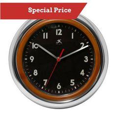 Infinity Instruments Jaguar Wall Clock 14012CM-3140