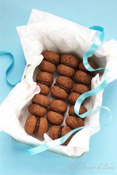 Baci di Alassio : baisers biscuits chocolat et noisettes (sans gluten)