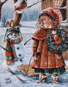 Christmas Card Pictures, Vintage Christmas Photos, Victorian Christmas, Vintage Holiday, Christmas Pictures, Christmas Scenes, Christmas Greetings, Winter Christmas, Kids Christmas