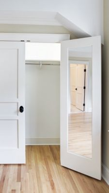 1000 images about closet doors on pinterest closet doors shaker style and shaker doors - Mirror opposite front door ...