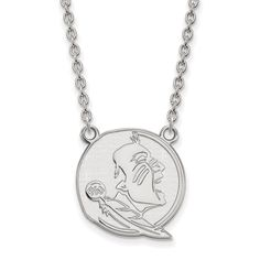 10 Karat Gold LogoArt Florida State University Pendant with Necklace