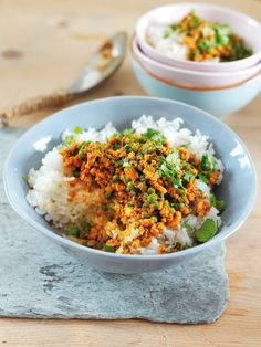 Keema is a dish of spicy mince; this version uses minced turkey and, more significantly, its heat is provided by gochujang, the Korean chilli paste. Korean Chilli Paste, Turkey Mince, Asian Recipes, Ethnic Recipes, Spicy Recipes, Nigella Lawson, Rachel Ray, Fresh Coriander, Pavlova