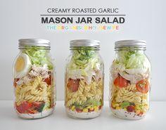 {The Organised Housewife} Creamy Roast Garlic Mason Jar Salad