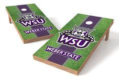 Weber State Wildcats Cornhole Board Set - Field