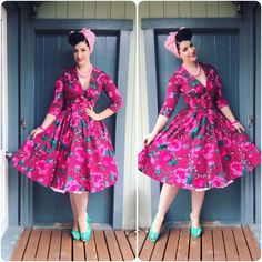 My Week In Outfits! - Miss Victory Violet Pin Up Outfits, Dress Outfits, Cool Outfits, Fashion Dresses, Dress Dior, Vintage Outfits, Vintage Fashion, Vintage Style, Pin Up Poses