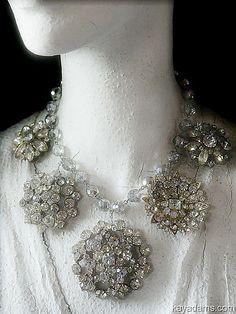 Necklaces / karen cox.  kay adams....Crystal and rhinestone statement bib necklace (jewelry)