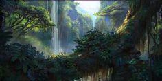 Jungle, Jordi Gonzalez Escamilla on ArtStation at https://www.artstation.com/artwork/paintings-f58947ee-20d5-4924-a6ea-10fe3bf8aad8