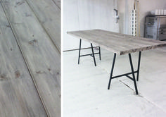 Translated site - Amazing table easily made from wood planks & driftwood stain. This is definitely the latest & top contender for our kitchen table! Ikea Table Hack, Ikea Furniture Hacks, Ikea Hacks, Best Ikea, Paint Colors For Living Room, Dining Table, Interior Design, Home Decor, Large Table